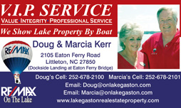 Lake Gaston real estate by Doug and Marcia Kerr